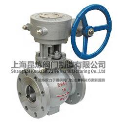 Q341F、Q347F涡轮燃气球阀-电动球阀-气动-蜗轮球阀-昆炼阀门图片