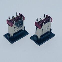 16P立贴TYPE-C母座 四脚插板SMT/双排端子 贴片式 H=9.3mm图片