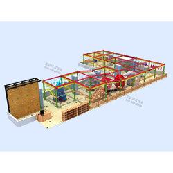 儿童高空拓展训练 室内外大型攀岩墙 儿童塑料滑梯厂家定制图片