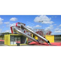 非标定制不锈钢滑梯 景区儿童不锈钢滑梯 木质组合滑梯厂家直销图片