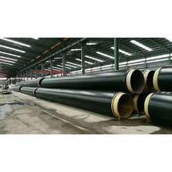 聚乙烯外护管聚氨酯保温螺旋钢管※图片