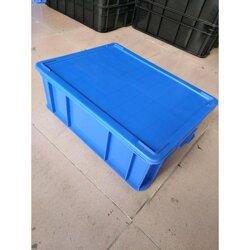 厂家直销长�}方形工业仓储运输胶箱配盖子 塑胶■周转箱图片