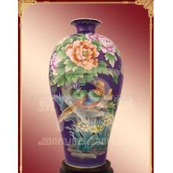 出售景泰蓝 珐琅 工艺品 盘子 鱼鸟牡丹花瓶批发采购图片