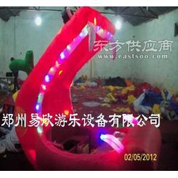 鳄鱼广场卡通玩具车充气四轮电瓶车加彩灯易欣价更优图片