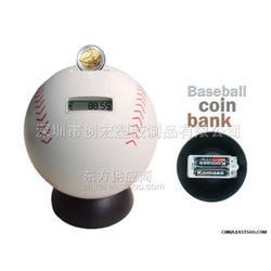 棒球识币钱罐,电子智能钱罐图片