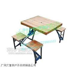 优质户外野营野餐沙滩杉木折叠桌椅图片
