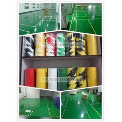 彩色地板胶带 警示胶带 单色双色斑马胶带 黑黄划线胶带图片