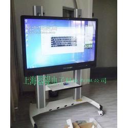 55寸84寸落地移动电视触摸屏支架图片