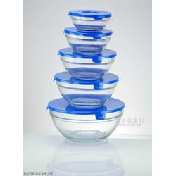 五件套微波炉用玻璃保鲜碗图片