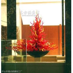 艺术彩色玻璃落柱灯图片