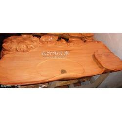 红豆杉雕刻茶盘图片