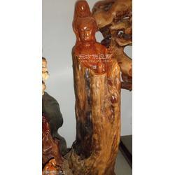 红豆杉雕刻观音像图片
