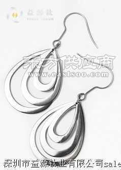 时尚女性双圈钛耳环,定做钛耳环厂家