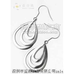 时尚女性双圈钛耳环,定做钛耳环厂家图片