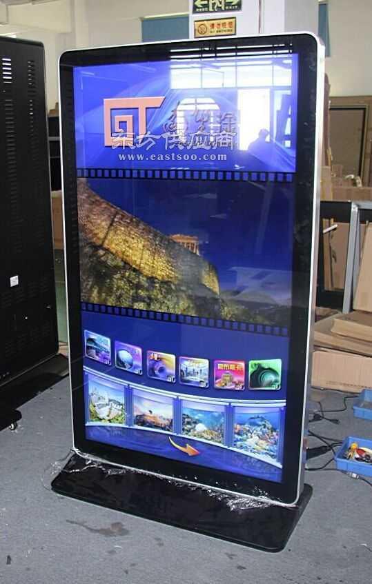70寸落地式苹果款广告机窄边窄边框大屏幕图片