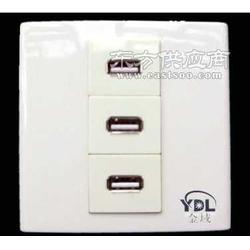 只带USB接口的插座低压36VUSB墙壁插座图片