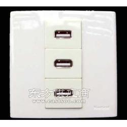 低压36V转5V宿舍专用只带USB充电的墙壁插座图片