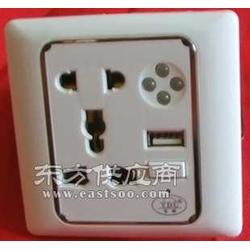 五孔多功能墙壁面板带USB充电接品图片