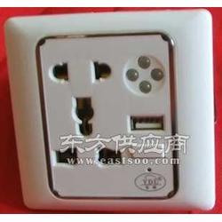 七天连锁酒店专用86型五孔带USB带灯的墙壁插座图片