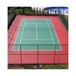 铺设篮球场工程、网球场工程、丙烯酸球场工程图片