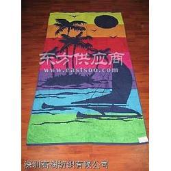 印花沙滩巾图片