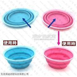 硅胶折叠碗 矽�z碗 硅胶伸缩碗 矽�z折叠碗图片