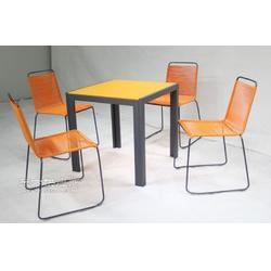 彩色牛筋藤线条椅CA1611户外休闲桌椅图片