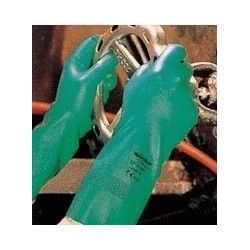 厚绿色丁腈手套,防油防化手套,防强酸手套图片