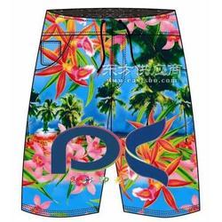 供应最好的沙滩裤印花厂家/数码印花图片