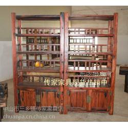沉船木多层书架老船木文件架学校图书馆用书架图片