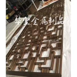 2017新款上市不锈钢移动屏风 花格 玄关隔断 金属花格 拉丝玫瑰金图片