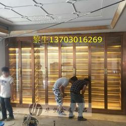 餐厅恒温不锈钢酒柜、KTV恒温不锈钢酒柜、红酒柜图片