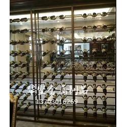 不锈钢玫瑰金酒柜_不锈钢酒柜镜面拉丝不锈钢酒柜图片