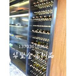厂家定制恒温酒柜玫瑰金葡萄酒红酒展示柜 生产红酒柜古铜铜酒柜图片