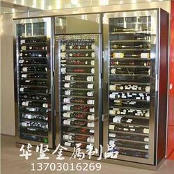 厂家销售酒柜简约现代恒温酒柜酒店ktv红酒架洋酒陈列架图片