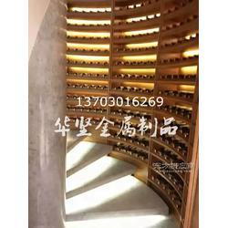 不锈钢酒架不锈钢恒温酒柜定制餐厅酒柜隔断酒窖酒柜定制图片