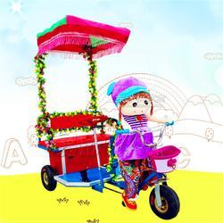 机器人拉车 亲子车毛绒动物电动三轮车 广场户外儿童电瓶车图片