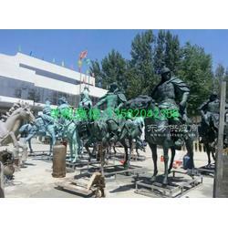 城市铜雕塑 古代战士铜雕塑图片