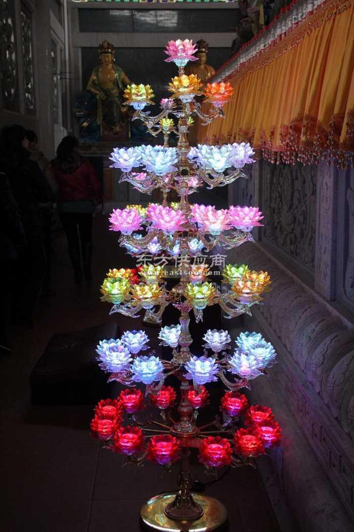 寺庙定做13品莲花灯49品莲花灯树图片