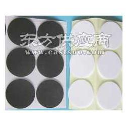 单面粘圆形白色海绵脚垫图片