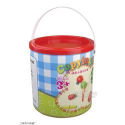 桶装水果积木图片