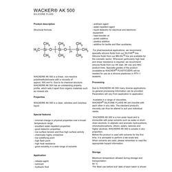 德国瓦克硅油AK500图片