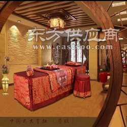 美容床罩四件套 美容美体按摩床罩 大金扣酒红图片