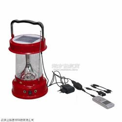 供应 太阳能野营灯 红色外壳旅行灯 带收音机充电器图片
