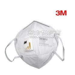 3M 9001V口罩带呼吸阀耳带式防尘防护口罩图片