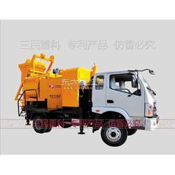 搅拌车载泵 最先进的混凝土搅拌拖泵图片