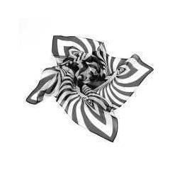 黑白条小方巾图片