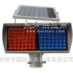 太阳能爆闪灯带帽檐红蓝爆闪灯厂家交通警示灯图片