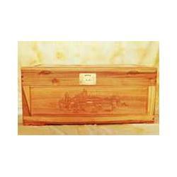 雕刻箱 樟木箱 收纳箱 樟木箱子A002风景图片