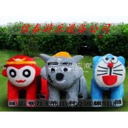 儿童毛绒玩具车 儿童游乐电动车 儿童动物智能电动车图片